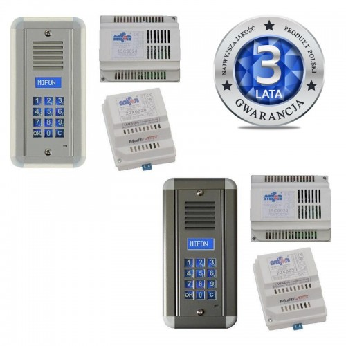 Domofon cyfrowy - zestaw cyfrowy hybrydowy 24 abonentów 50C0102AC (możliwość dodania do 999 abonentów)