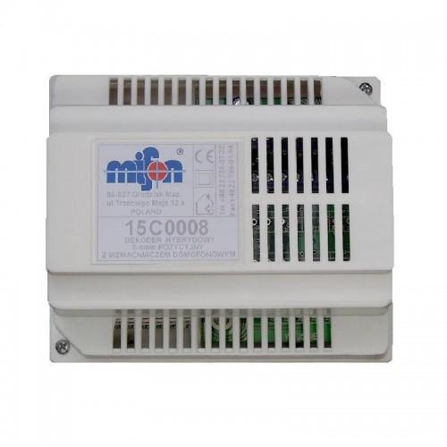 Dekoder domofonu na szesnastu abonentów ze wzmacniaczem 15C0016
