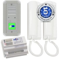 Domofon analogowy jednorodzinny z czytnikiem kart i interkomem 50A2111A/C/D